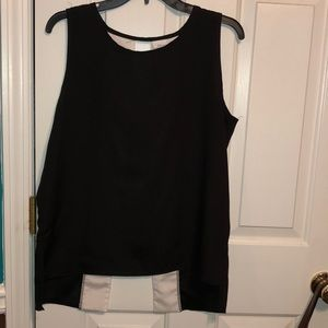 Black & white shirt with open back